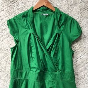 eshakti Dresses - eshakti // Kelly Green Retro-Inspired Dress